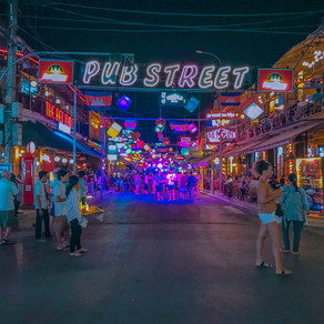 Pub Street, Siem reap's tourist pub for a night life in Cambodia