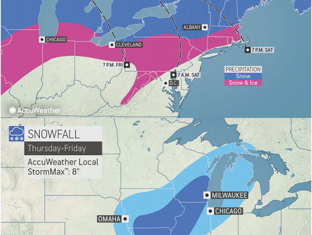 ACCUWEATHER METEOROLOGISTS PROVIDE UPDATE ON WINTER STORM HEADING TO CENTRAL US AND NORTHEAST