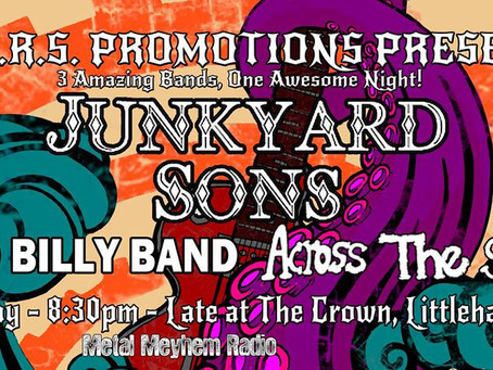 LARS Promotions event featuring Junkyard Sons with Bad Billy Band and Across The Sea.
