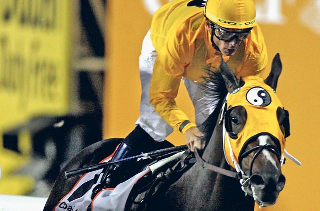 Kinsale King winning the 2010 Dubai Golden Shaheen. Horse racing documentary Chasing The WIn