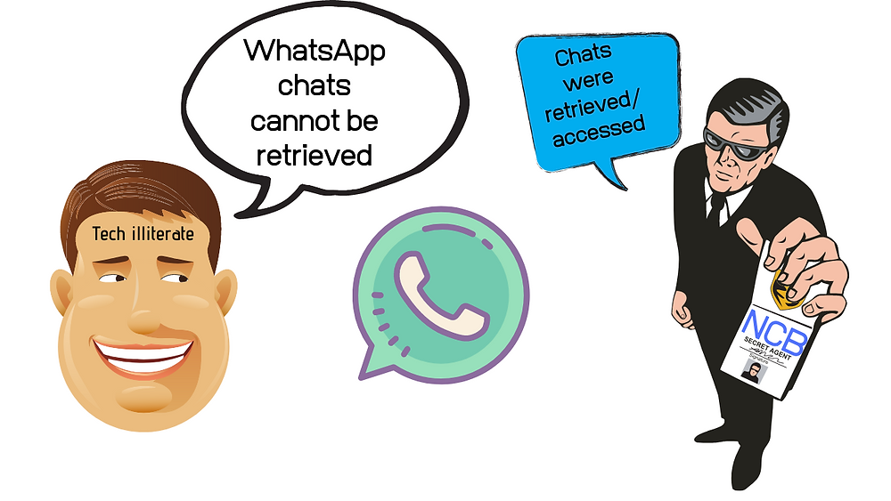 Illustration featuring Tech Illiterates defying facts & defending WhatsApp Myths.