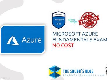 Take Microsoft Azure Fundamentals Certification Exam (AZ-900) at no Cost.