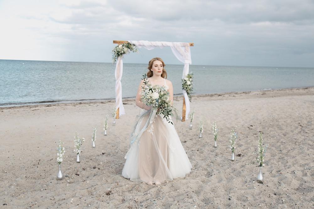 Hochzeit an der Ostsee Braut Vintage