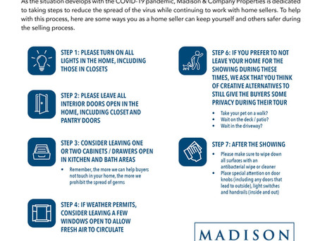 COVID Showing Precautions for Sellers - Madison & Co Properties