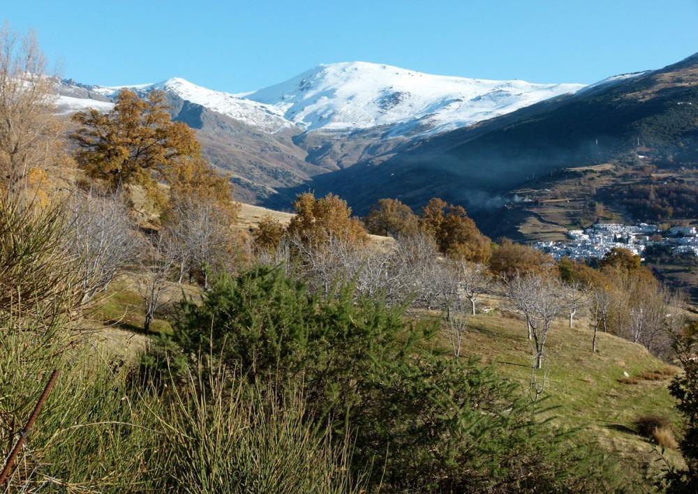 Sierra Nevada. Algunos años a principios de noviembre el invierno ya se ha instalado en las cumbres.