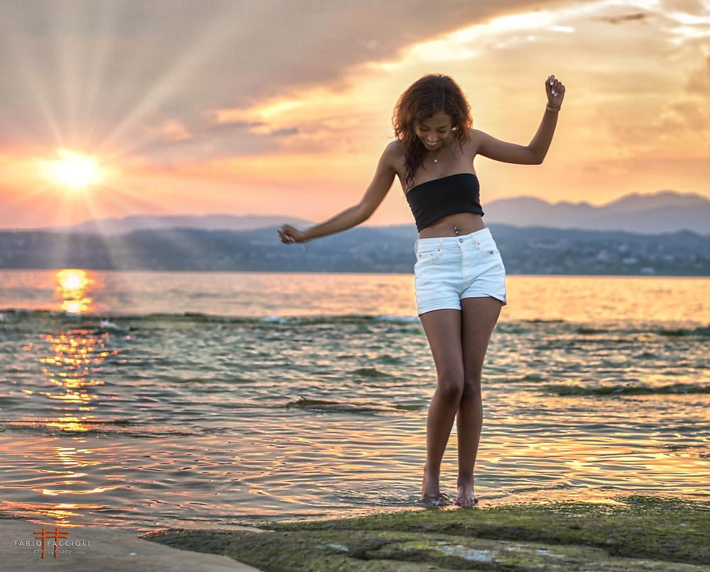 photo shoot in Jamaica Beach Sirmione