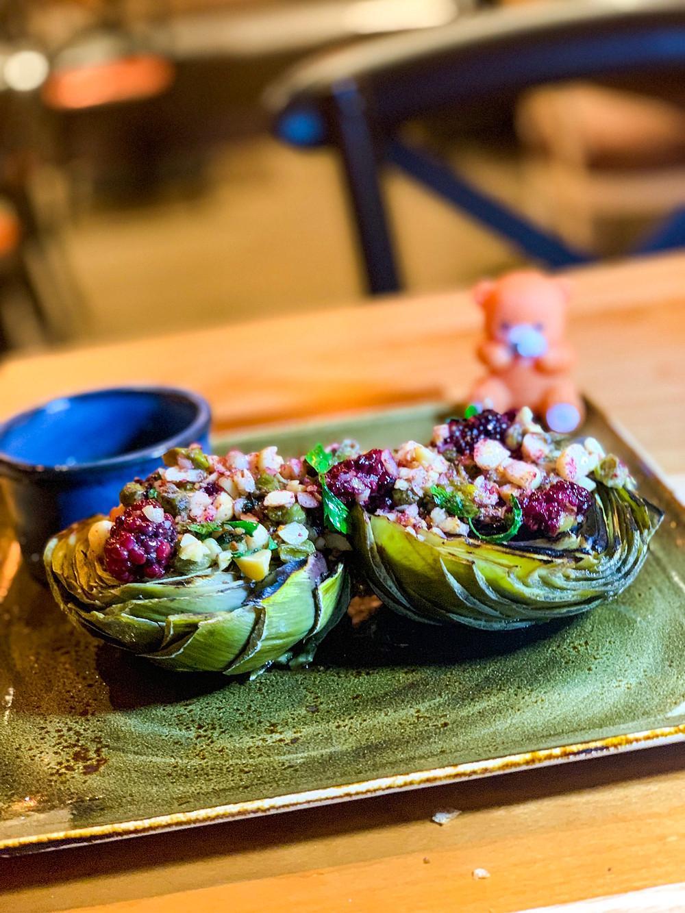 Organic Artichoke at Table 55