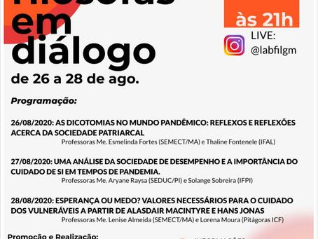 LIVE: Jovens Filósofas em Diálogo no canal @labfilgm