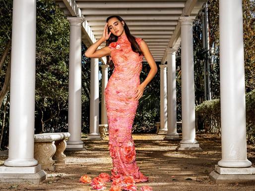 Garden Rose Petal Dress by Carol Jillian