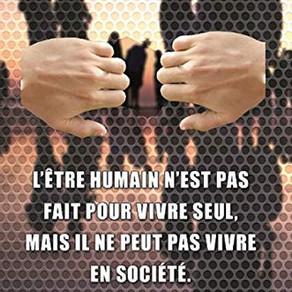 L'être humain n'est pas fait pour vivre seul... de René-Charles Cabrit