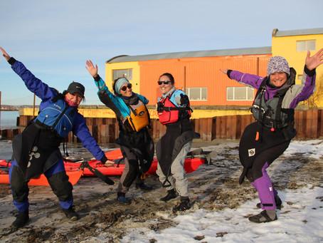Salida al mar en Kayak por parte de las Chicas del Club.