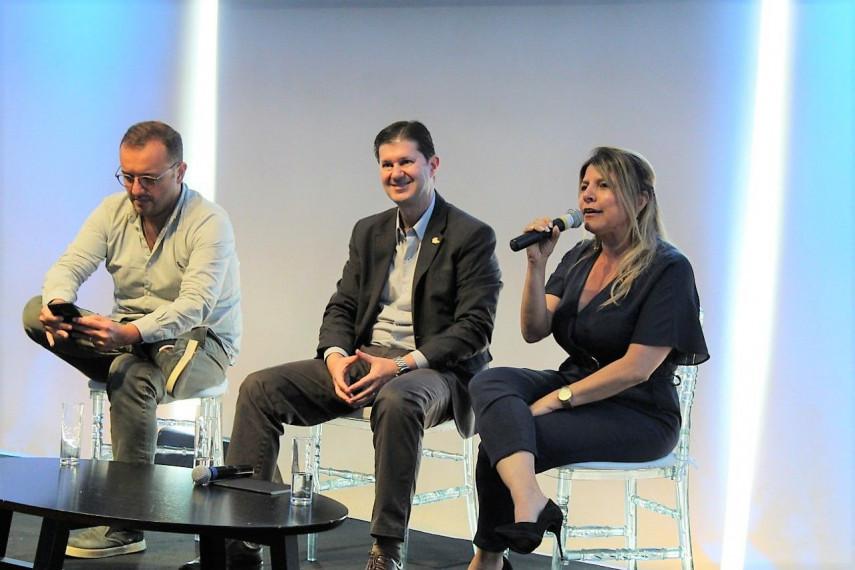 O evento contou com a apresentação dos projetos desenvolvidos pelos coletivos POA Inquieta e Pacto Alegre, dos quais o Sindilojas Porto Alegre faz parte.