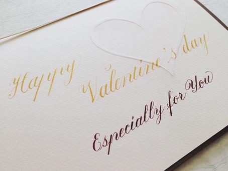 バレンタインカードのワークショップ