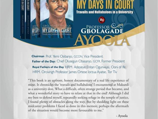 My Days in Court - Book Launching
