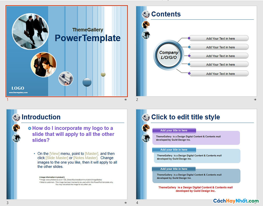 PowerPoint Template 437TGp_bizpeople_light_ani Free