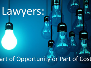 Where are you: part of the opportunity or part of the cost?