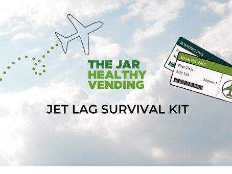 Jet Lag Survival Kit from The Jar Healthy Vending