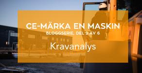 Bloggserie del 2/6 CE-märka en maskin: Kravanalys