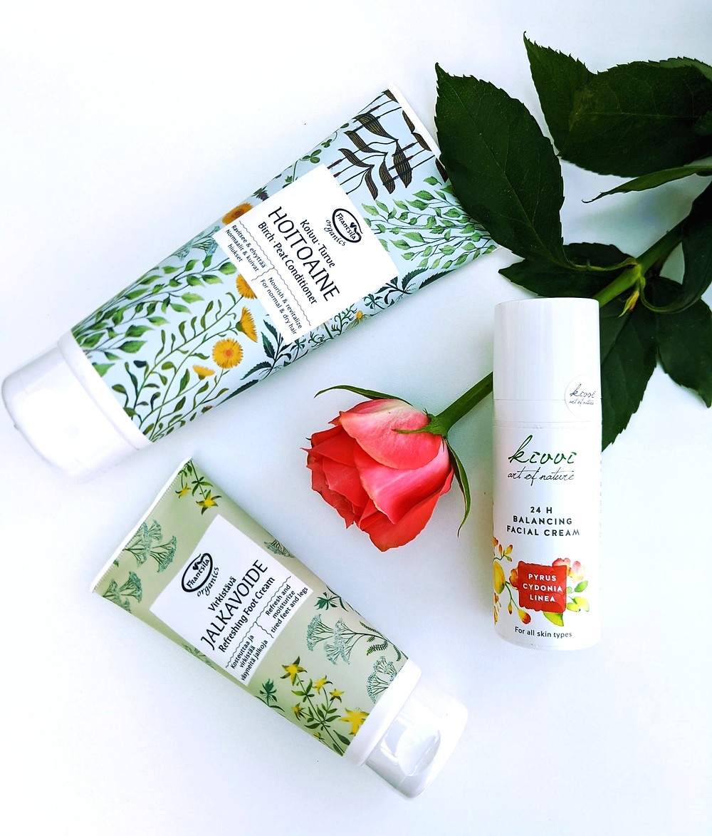 Koti Lifestyle | nettle, Frantsila hair conditioner and foot cream and Kivvi moisturiser
