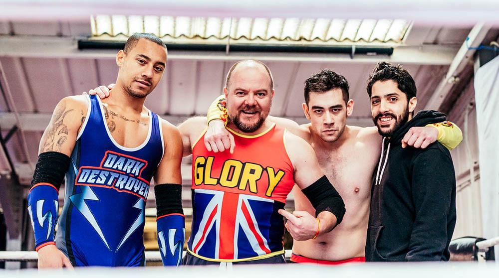 Joshua Lyster, Jamie Smelt, Josh Hart and Ali Azhar in Glory at the Dukes, Lancaster