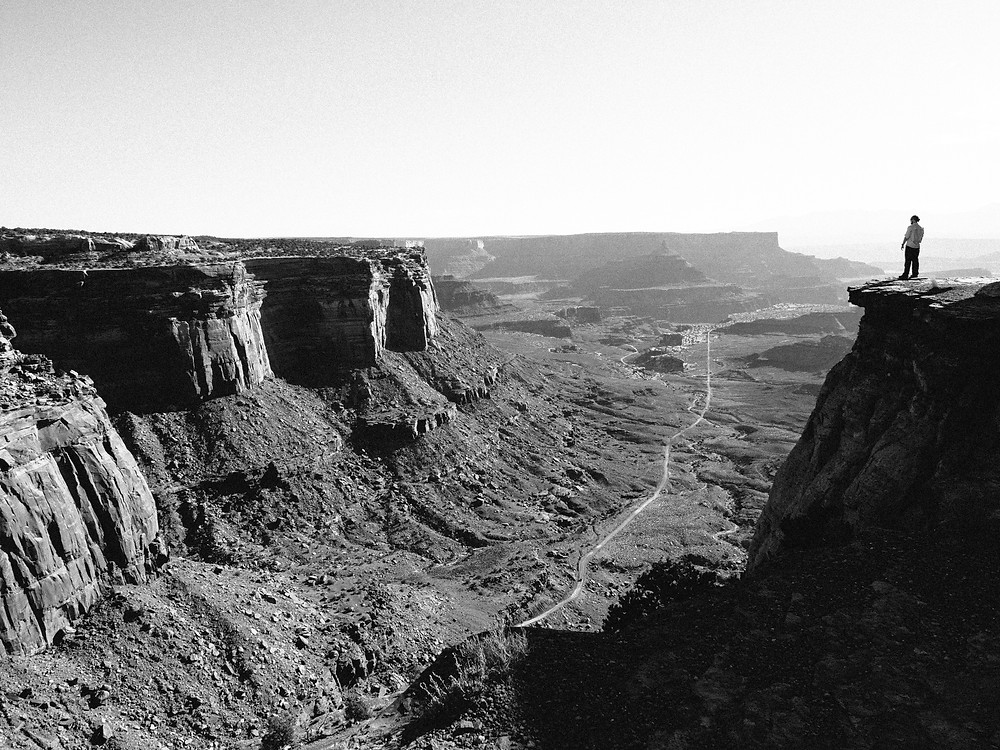 Mesa Valley cliffs in Canyonlands National Park after sunrise