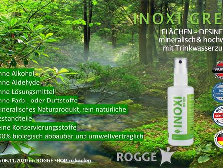 NEU bei ROGGE - FLÄCHEN DESINFEKTION. Mineralisches Naturprodukt & hochwirksam.