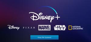 Screengrab of Disney Plus' teaser landing page
