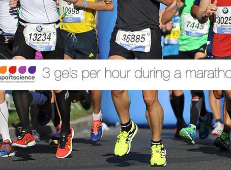 3 gels per hour for the marathon?