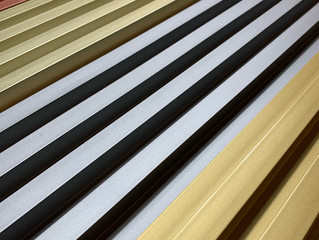 COLOURED FLUTED WALL PANEL