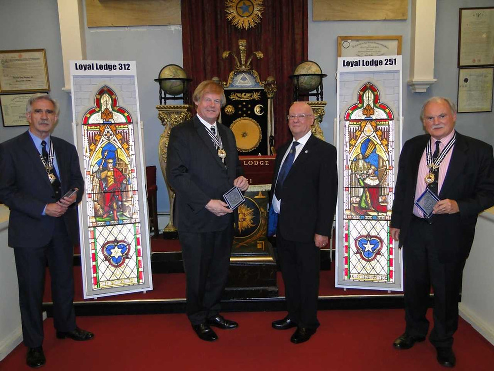 Freemasonry | Historic stained glass windows return to Barnstaple after 30 years