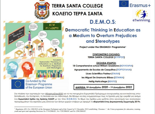 D.E.M.O.S.: Democratic thinking in Education as a Medium to Overturn prejudices and Stereotypes