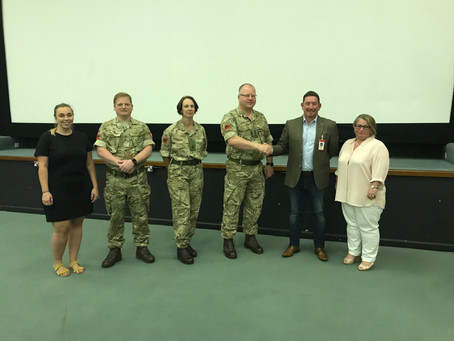 A VISIT TO THE DEFENCE SCHOOL OF POLICING AND GUARDING, TO DISCUSS DOMESTIC ABUSE AGAINST MEN.