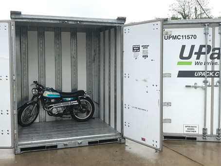 Shipping a Motorcycle in a Portable Storage Container