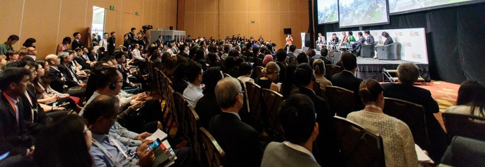 Audience at the high level panel on planning at the World Cities Summit in Singapore