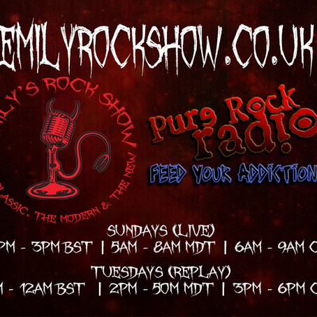 This Week (08/23 + 08/25) On Emily's Rock Show...