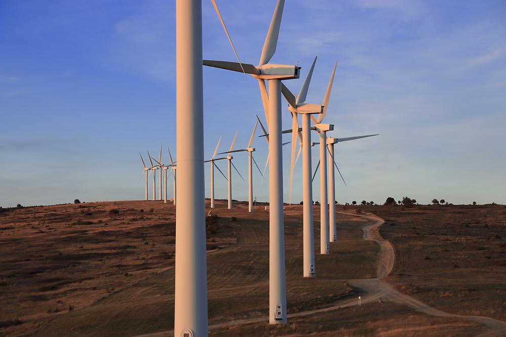 éolien français , parc d'éolienne , production d'électricité,