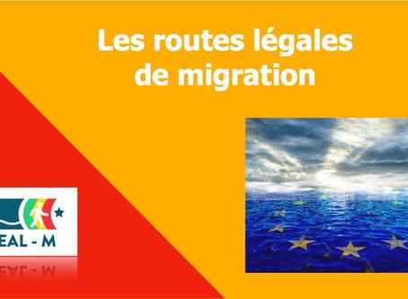 Les routes légales de migration