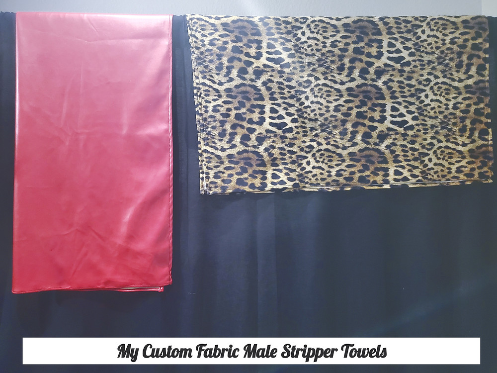 Male Stripper Custom Fabric Towels for Bachelorette Party