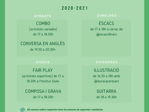 Tallers La Masoveria, curs 2020-2021