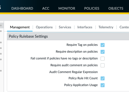 "What does ""Require Tag/Description on policies"" do to existing rules?"