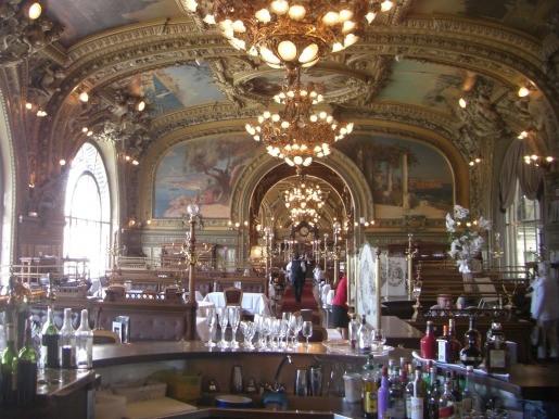 The magnificent Train Bleu Restaurant at Gare de Lyon