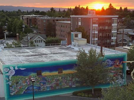 Portland and my largest mural yet