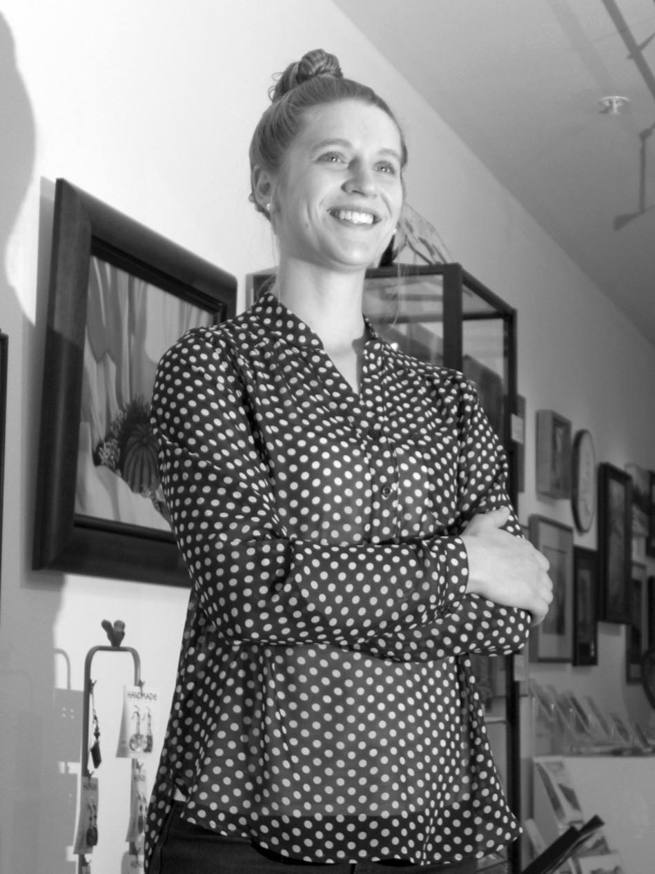 Executive Director, Kendra Heimbuck, in Member Gallery