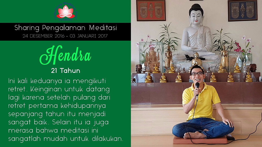 Mahasiswa yang ingin Meditasi lagi dan lagi - Sharing oleh HENDRA