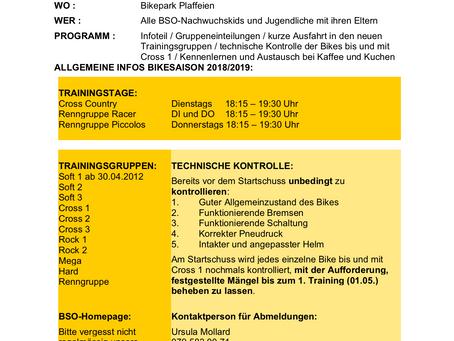 STARTSCHUSS 2018 BSO-NACHWUCHS