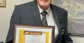 Local officials receive training awards