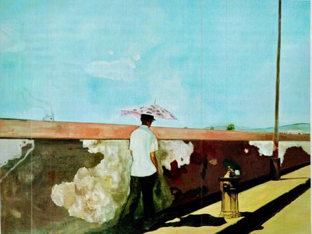 Le mur  de Peter Doig / acrylique