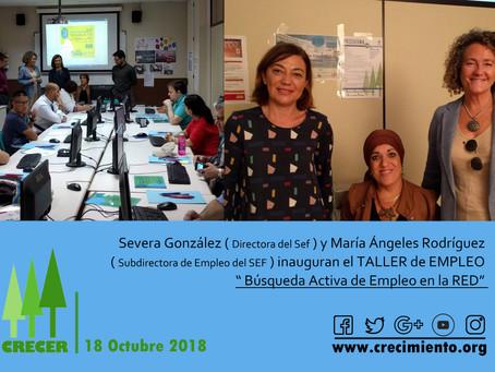 Inauguración del TALLER DE EMPLEO ( Murcia, 18-10-2018 )