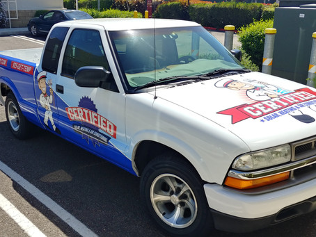 A Couple of Vehicle Wraps for Certified HVAC
