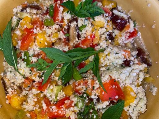 Raw Cauliflower 'Couscous' Salad Recipe 🥗